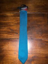 Mens Marks & Spencers Limited Collection Teal/ Green Knit Tie - BRAND NEW