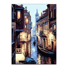 Watery City DIY Digital Oil Painting Kit Paint by Numbers on Canvas Home Decor