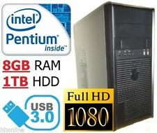 Intel Pentium 8GB 3.00-3.49GHz Desktop & All-In-One PCs