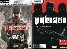 wolfenstein new order & return to castle wolfenstein extended edition NEW&SEALED