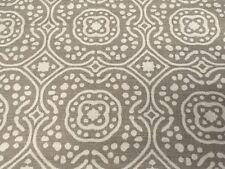 Romo Grey Moroccan Tiles Print Upholstery Fabric Chella Quail 2.60 yd 7745/02
