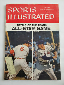 July 8, 1957 Sports Illustrated All-Star Game Stan Musial Ted Williams Cover