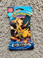 Pokemon XY Evolutions Sleeved Booster Pack Charizard Pack Art Sealed!! 🔥🔥