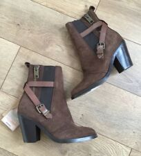 NEW DIESEL WOMEN'S D-KINLEY BOOTS BROWN LEATHER TALL ANKLE BOOTS Sz 36 $340