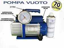POMPA VUOTO 70LT CONDIZIONATORE FRIGO GAS R134A R410A R407C R404 R600A R22 R12 E
