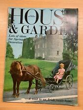 APRIL 1966 HOUSE & GARDEN VINTAGE MAGAZINE - IRISH CASTLE HOME