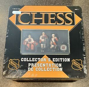 NEW!!  NHL Chess Collector's Edition (2003) - Hand Crafted Set in Metal Tin!!