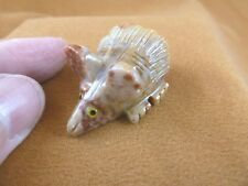 (Y-MOU-12) little Tan red MOUSE carving gem FIGURINE SOAPSTONE PERU pet MICE