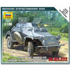 ZVEZDA 6157 Sd.Kfz. 222 Armoured Car Snap Fit Model Kit 1:100