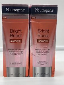 2 Pk Neutrogena Bright Boost Resurfacing Micro Polish