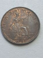 1933 George V Farthing, high grade with lustre