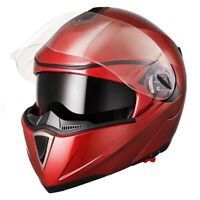 DOT Flip Up Modular Full Face Motorcycle Helmet Dual Visor Motocross Matt M L XL
