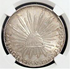 Mexico: Republic 8 Reales 1882 Go-SB MS62 NGC.