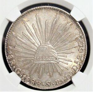 Mexico: Republic 8 Reales 1882 Go-SB MS62 NGC