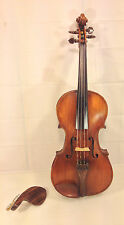 Antique Jean Charles Violin 1783 with Case France Fancy Tuner Pegs & Tailpiece