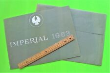 1963 IMPERIAL PRESTIGE CATALOG Brochure + ENVL 24-pgs CONVERTIBLE Crown LeBARON