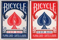 Mini Bicycle Rider Back Playing Cards 2 Deck Set Blue & Red Poker Size USPCC New