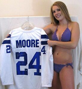 Lenny Moore signed white jersey - Baltimore Colts - Hall of Fame 1975 - Ravens