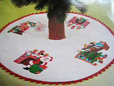 "BUCILLA Felt Holiday Applique TREE SKIRT Kit,NIGHT BEFORE CHRISTMAS,#3380,45"""
