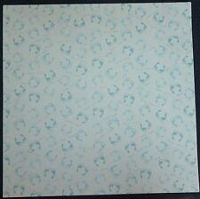 Baby Boy Blue Tiny Toes Baby Feet Scrapbook Paper 12 x 12, 4 sheets