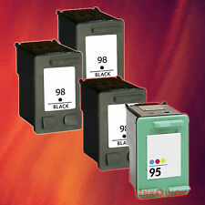 4 HP 98/95 INK FOR HP 98 BLACK HP 95 TRI-COLOR COMBO