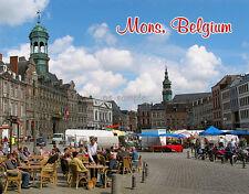 Belgium  MONS  Travel Souvenir Fridge Magnet