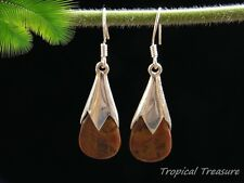 Australian 'Noreena' Jasper & 925 Silver Earrings    #87197