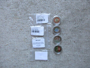 4 X 2 EURO Gedenkmünzen in Kapseln Coloriert (Bunt) zu den einzelnen s Text u Bi