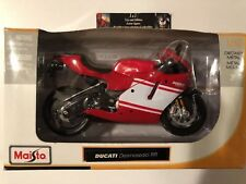 DUCATI Desmosedici RR Motorcycle MAISTO Diecast 1:12 Red and White