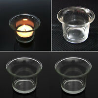 Beautiful Clear Glass Light Votive Candle Holder Wedding Xmas Night Party au