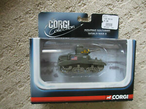 CORGI FIGHTING MACHINES US M-3 STUART TANK NORTH AFRICA DIECAST WWII