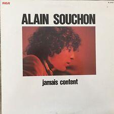 VINYLE - 33T - ALAIN SOUCHON - JAMAIS CONTENT