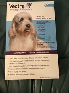 Vectra For Dogs & Puppies Flea Only 21 - 55 Lbs 6 Doses