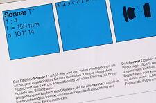 Prospekt: ZEISS Sonnar T 4/150mm (Hasselblad)
