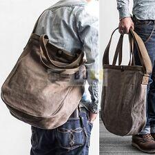 "Vintage Canvas Tote Bags Men Women Handbag Cross Body Shoulder Bag For 15""Laptop"