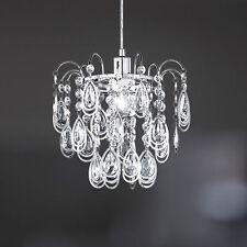 WOFI lámpara colgante Carree 1 luz cromado COLGADURA Ø31 cm E27 Montura Lámpara