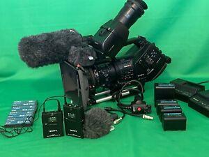 Sony PMW-EX3 Matte box  batteries, SxS cards, x 3 microphones, case, rain cover.