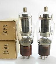 2 +/-1950 National Union JAN-CNU-807 / VT-100A tubes - Black Plate, [] [] Getter