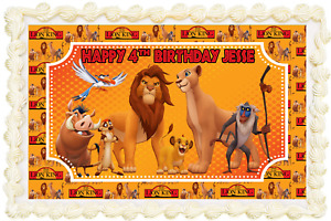 LION KING RECTANGLE / SQUARE PERSONALISED ICING EDIBLE COSTCO CAKE TOPPER J-153G
