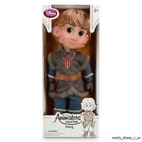 """NEW Disney Store Animators Collection Toddler Frozen Kristoff Toy Doll 16"""" 1st"""