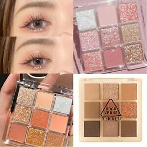 Matte Eyeshadow 9 Colors Palette Makeup Kit Shimmer Glitter Eye Shadow Powder