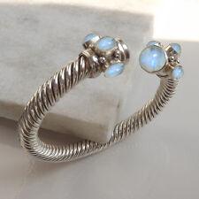 Rainbow Moonstone silver plated Bangle,moonstone Silver Plated Bracelet,Moon