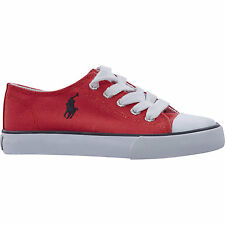 POLO RALPH LAUREN Kids Red Canvas Shoes Sneakers size UK 2.5