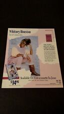 WHITNEY HOUSTON THE #1 VIDEO HITS (1986) RARE ORIGINAL PRINT PROMO POSTER AD