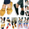 Womens Casual Flat Platform Slip On Sneaker Comfort Plimsoll Loafers Shoes Pumps