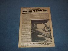 """1965 Ford F-100 Pickup Drag Car Vintage Article """"Too Fast for Pro Gas"""""""