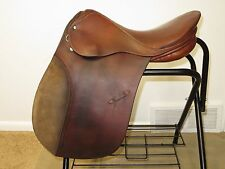 "GUC~Solid German-Made Brown STUBBEN TRISTAN English Dressage Saddle~17.5""~30cm"