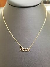 Tiffany & Co 18KT Gold Peace Necklace Paloma Picasso