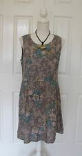 LINA TOMEI ITALIAN MADE FLORAL DRESS SZ XL 12-14