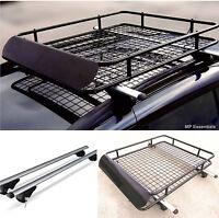 135cm Lockable Aluminium Roof Rail Bars & Car Rack Tray for Vauxhall Frontera